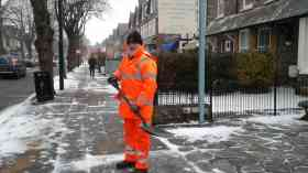 Gritting in Minehead.